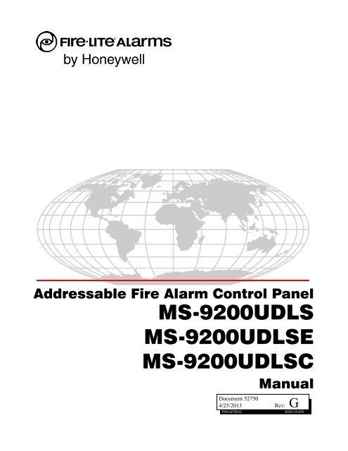 MS-9200UDLS Manual - Fire-Lite Alarms
