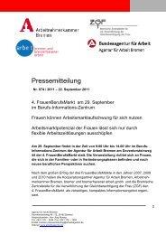 4. FrauenBerufsMarkt am 29. September im Berufs - Bremische ...