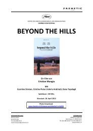 BEYOND THE HILLS - bei Frenetic