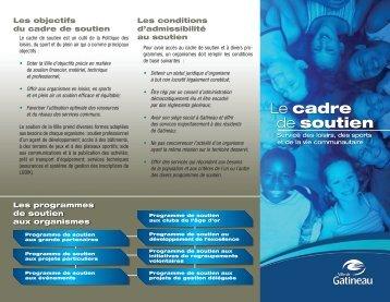 Le cadre de soutien - Ville de Gatineau