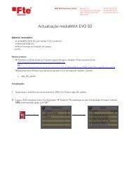 Actualização mediaMAX EVO S2 - FTE Maximal