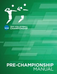 Appendix A - NCAA Volleyball Central  Hub