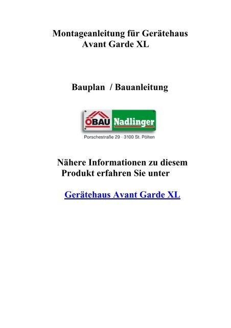 Opbouwhandleiding Berging Avantgarde Gr Xl Biohort