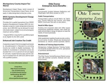 Enterprise Zone Brochure - City of Gaithersburg