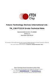 TN_138 FT221X Errata Technical Note - FTDI
