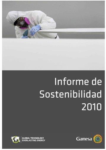 Informe de Sostenibilidad correspondiente al ejercicio 2010 - Gamesa