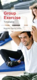Group exercise timetable 2013 - Fusion Lifestyle