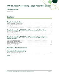 FAS 50 Asset Accounting - Sage Peachtree Edition Quick Start ...