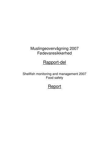 Toksiske Alger 2007 rapport 14 oktober - Fødevarestyrelsen