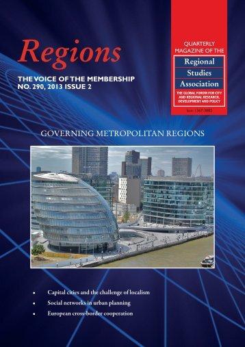 GOVERNING METROPOLITAN REGIONS