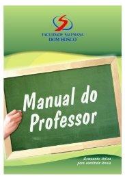 FSDB Manual do Professor 2008 - Faculdade Salesiana Dom Bosco