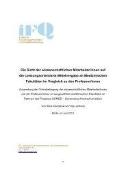 Die Sicht der wissenschaftlichen Mitarbeiter/innen auf die ...