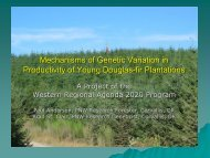 Mechanisms of Genetic Variation in Productivity of Young Douglas ...