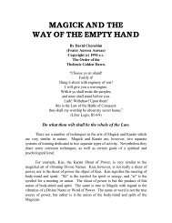 Magick & the Way of the Empty Hand - Foosthole.net