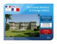 The French Ministry of Foreign Affairs - Embassy of France
