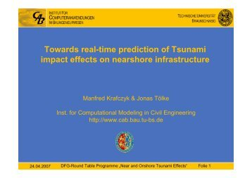 Towards real-time prediction of Tsunami impact effects on ... - FZK