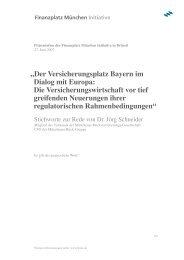 Rede von Dr. Jörg Schneider - Finanzplatz München Initiative