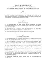 Richtlinie für die Gewährung von Zuschüssen an Landeslehrer zu ...