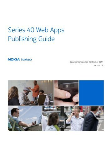 Series 40 Web Apps Publishing Guide - Nokia