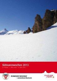 Flyer Skitourenwochen 2013 als pdf - Flumserberg