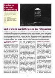 Teil 4: Vorbereitung zur Kalibrierung des Fotopapiers - Fotoespresso
