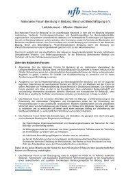 Mission Statement - Nationales Forum Beratung in Bildung, Beruf ...