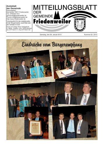 Eindrücke vom Bürgerempfang - Friedenweiler