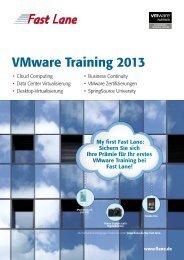 VMware Training 2013 - Fast Lane