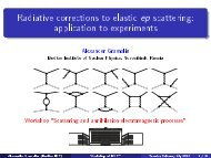 application to experiments - Fisica