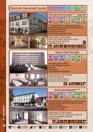 Hotels der Hansestadt Stendal - Altmark-Pokal