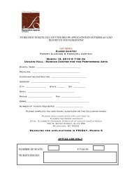 Deadline for applications is FRIDAY, March 5 - Florentine Opera