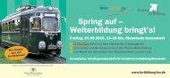 flyer - Weiterbildung in Baden-Württemberg