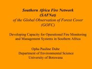 Southern Africa Fire Network - The Global Fire Monitoring Center