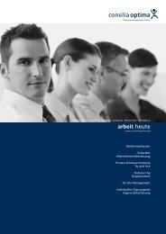 arbeit heute - Consilia Optima - Personalmanagement Gmbh