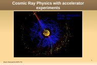 Cosmic Ray Physics with accelerator experiments (pdf)