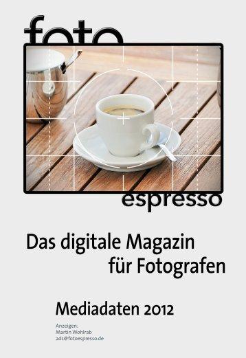 Das digitale Magazin für Fotografen - Fotoespresso