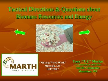 Wood Residue Markets in Wisconsin - Fuels for Schools and Beyond