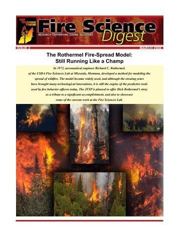 The Rothermel Fire-Spread Model - Joint Fire Science Program