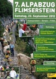 Plakat Alpabzug 2012 - Flims