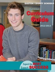 High School Curriculum Guide 2012-2013 - Gaston County Schools