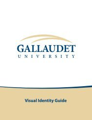 Visual Identity Guide (PDF) - Gallaudet University