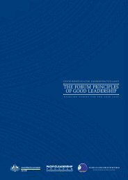the forum principles of good leadership - Pacific Islands Forum ...