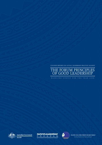 the forum principles of good leadership - Pacific Islands Forum ...