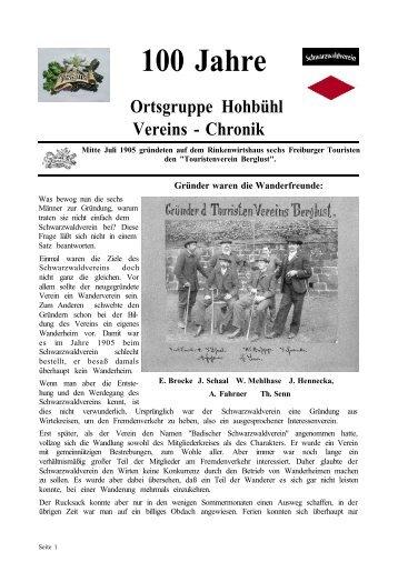 Chronik 1905-2005 - Schwarzwaldverein Ortsgruppe Freiburg ...