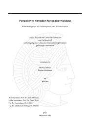 Perspektiven virtueller Personalentwicklung - tuprints - Technische ...
