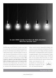 Im Jahr 2004 werden fünf Ideen die Welt erleuchten. Wird Ihre ...