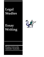 Legal Studies Essay Writing - Flinders University