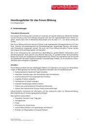 Handlungsfelder Grundlagen - Forum Bildung