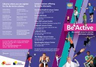 Be Active brochure - Fusion Lifestyle