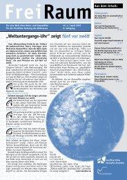 Freiraum 2007 - 1 (PDF) - Gewaltfreie Aktion Atomwaffen Abschaffen
